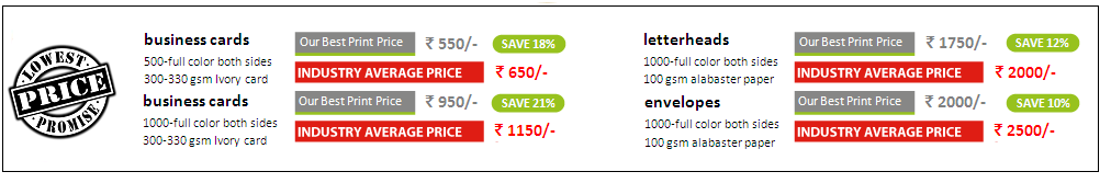 lowest printing rates in mumbai